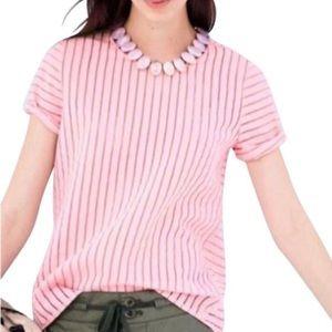 Jcrew Blossom Pink Shadow Stripes